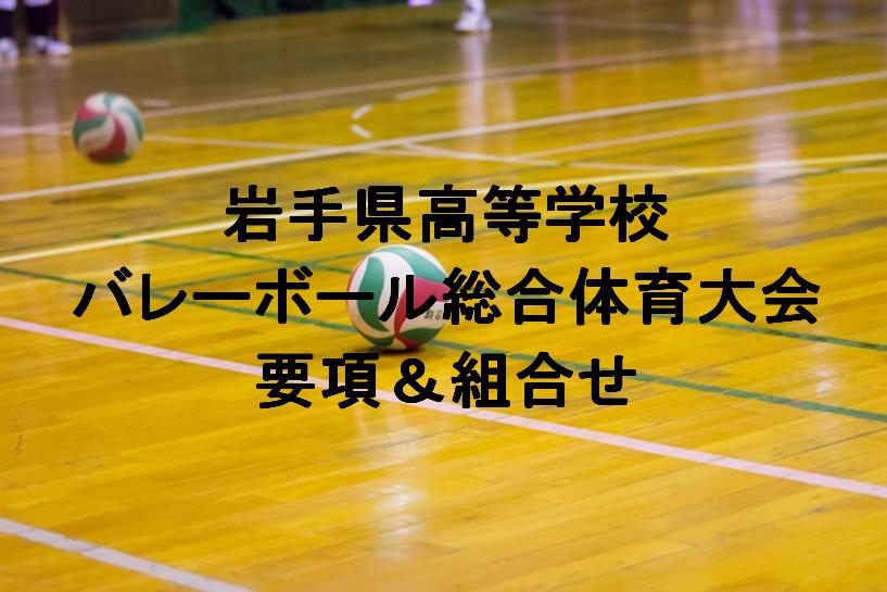 【組合せ決定】2017岩手県高校総体バレーボール(インターハイ) 実施要項