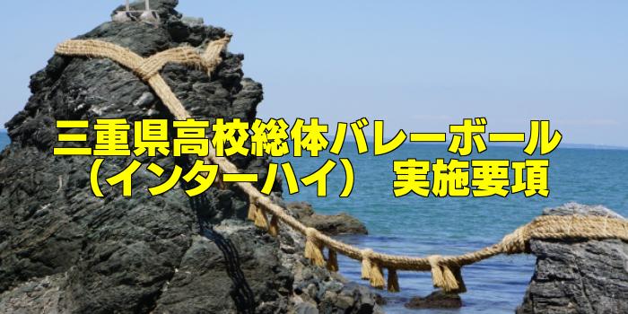 【組合せ決定】2017三重県高校総体バレーボール(インターハイ) 実施要項