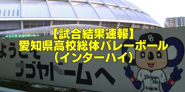 【試合結果速報】2017愛知県高校総体バレーボール(インターハイ)