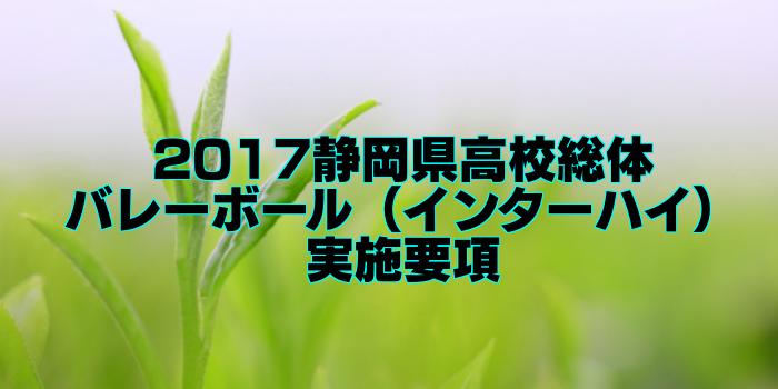 【組合せ決定】2017静岡県高校総体バレーボール(インターハイ) 実施要項