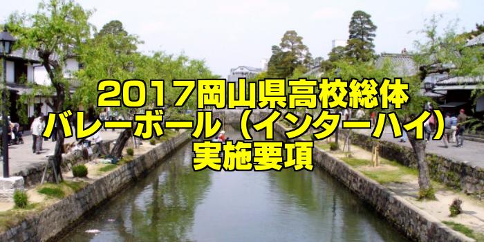【組合せ決定】2017岡山県高校総体バレーボール(インターハイ) 実施要項