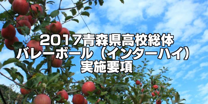【組合せ決定】2017青森県高校総体バレーボール(インターハイ) 実施要項