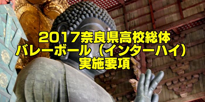 【組合せ決定】2017奈良県高校総体バレーボール(インターハイ) 実施要項