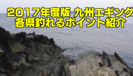 【知らなきゃ損する!】2017年度版 九州エギング 各県釣れるポイント紹介