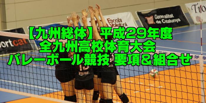 【九州総体】平成29年度 全九州高校体育大会 バレーボール競技 要項&組合せ