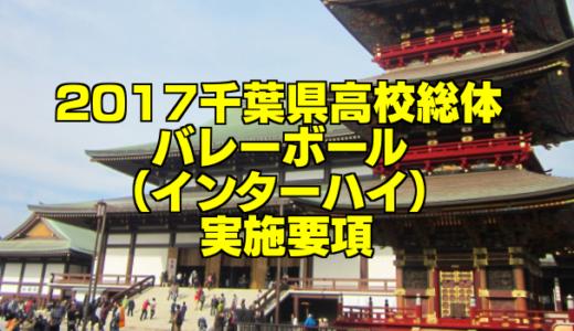 【組合せ決定】2017千葉県高校総体バレーボール(インターハイ) 実施要項