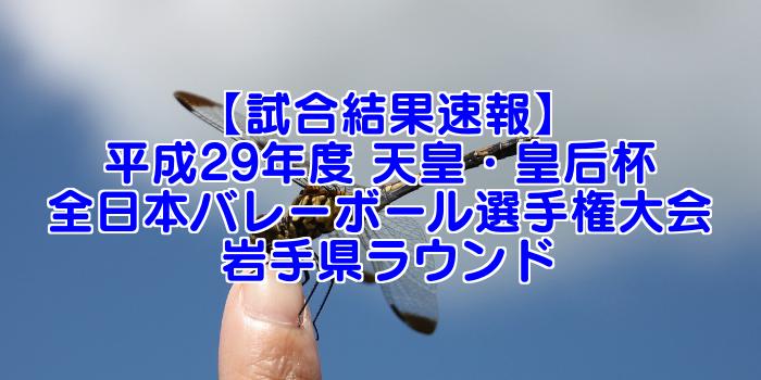 【試合結果速報】平成29年度 天皇・皇后杯 全日本バレーボール選手権大会 岩手県ラウンド