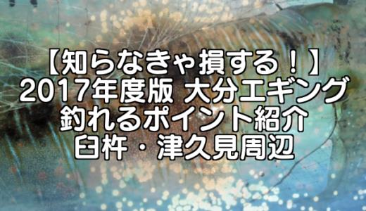 【知らなきゃ損する!】2017年度版 大分エギング 釣れるポイント紹介 臼杵・津久見周辺