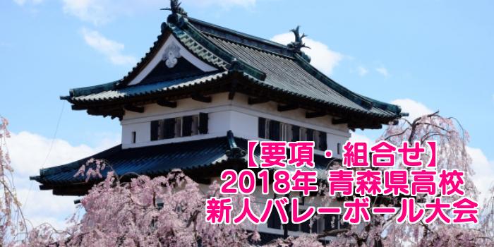 【2018新人戦】青森県高校新人バレーボール大会 要項・組合せ