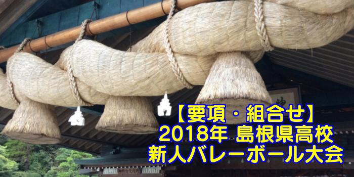 【2018新人戦】島根県高校新人バレーボール大会 要項・組合せ