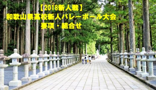 【2018新人戦】和歌山県高校新人バレーボール大会 要項・組合せ