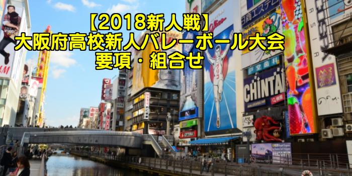【2018新人戦】大阪府高校新人バレーボール大会 要項・組合せ