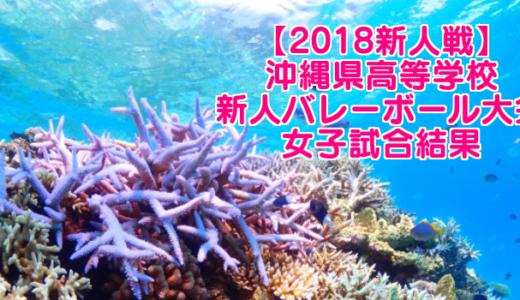 【2018新人戦】沖縄県高等学校新人バレーボール大会 女子試合結果