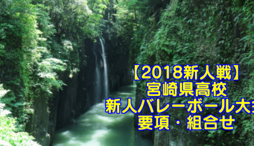 【2018新人戦】宮崎県高校新人バレーボール大会 要項・組合せ