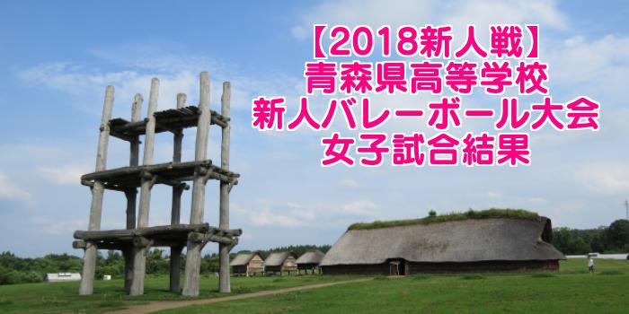 【2018新人戦】青森県高等学校新人バレーボール大会 女子試合結果