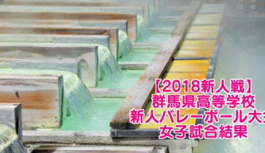 【2018新人戦】群馬県高等学校新人バレーボール大会 女子試合結果