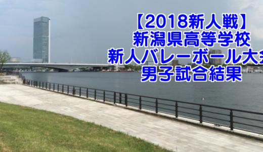 【2018新人戦】新潟県高等学校新人バレーボール大会 男子試合結果