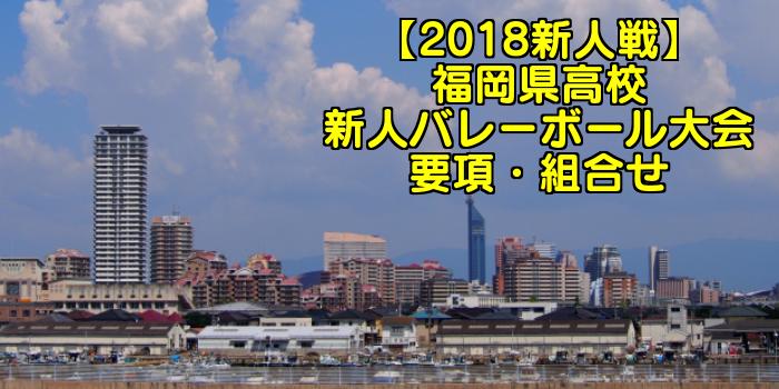 【2018新人戦】福岡県高校新人バレーボール大会 要項・組合せ