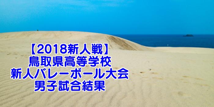 【2018新人戦】鳥取県高等学校新人バレーボール大会 男子試合結果