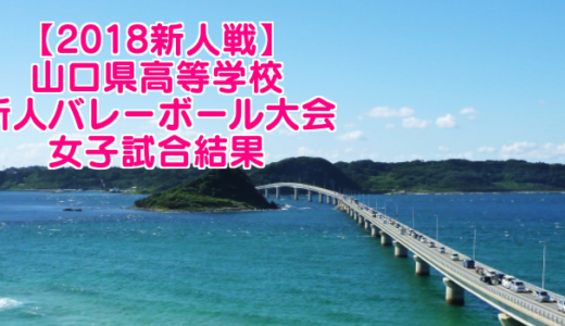 【2018新人戦】山口県高等学校新人バレーボール大会 女子試合結果