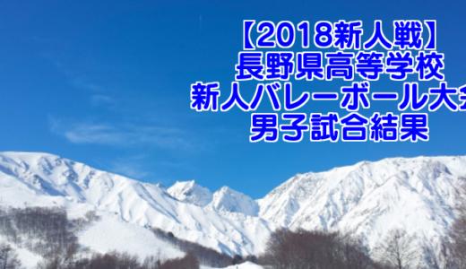 【2018新人戦】長野県高等学校新人バレーボール大会 男子試合結果