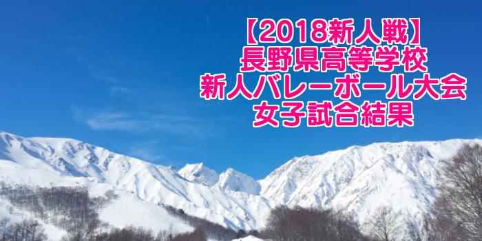【2018新人戦】長野県高等学校新人バレーボール大会 女子試合結果