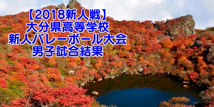 【2018新人戦】大分県高等学校新人バレーボール大会 男子試合結果