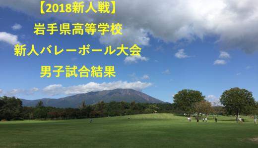 【2018新人戦】岩手県高等学校新人バレーボール大会 男子試合結果