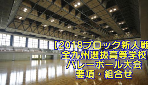 【2018ブロック新人戦】全九州選抜高等学校バレーボール大会 要項・組合せ