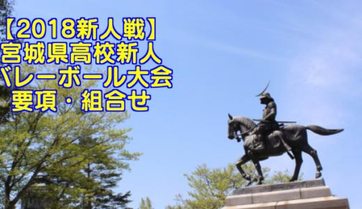 【2018新人戦】宮城県高校新人バレーボール大会 要項・組合せ
