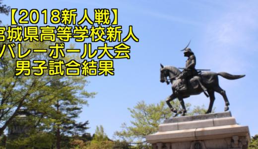 【2018新人戦】宮城県高等学校新人バレーボール大会 男子試合結果