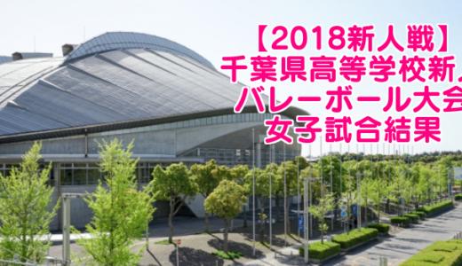 【2018新人戦】千葉県高等学校新人バレーボール大会 女子試合結果