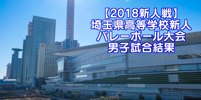 【2018新人戦】埼玉県高等学校新人バレーボール大会 男子試合結果