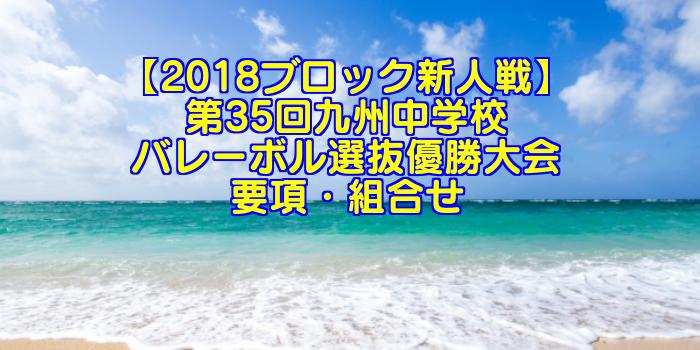 【2018ブロック新人戦】第35回九州中学校バレーボル選抜優勝大会 要項・組合せ