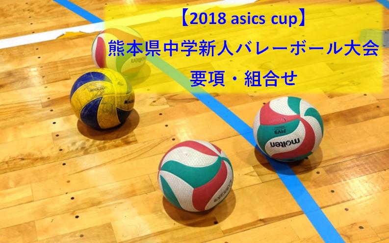 【2018 全九州選抜予選】熊本県中学新人バレーボール大会 要項・組合せ