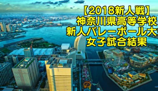 【2018新人戦】神奈川県高等学校新人バレーボール大会 女子試合結果
