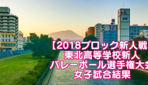【2018ブロック新人戦】東北高等学校新人バレーボール選手権大会 女子試合結果