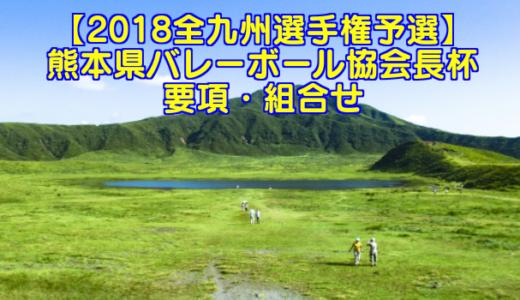 【2018全九州選手権予選】熊本県バレーボール協会長杯 要項・組合せ