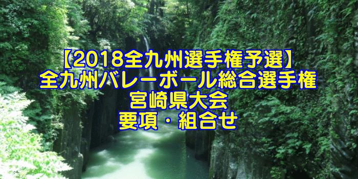 【2018全九州選手権予選】全九州バレーボール総合選手権 宮崎県大会 要項・組合せ