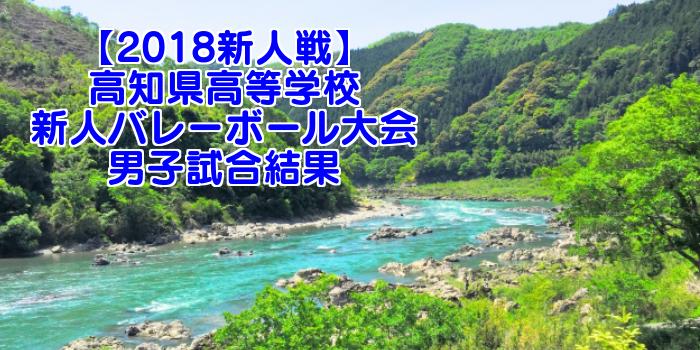 【2018新人戦】高知県高等学校新人バレーボール大会 男子試合結果
