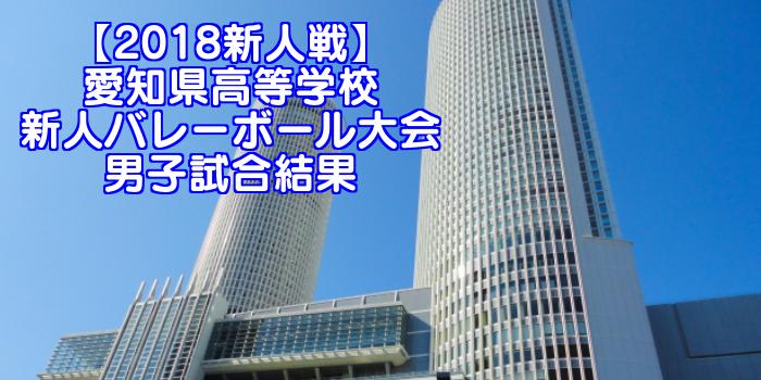 【2018新人戦】愛知県高等学校新人バレーボール大会 男子試合結果