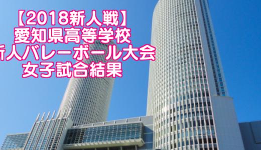 【2018新人戦】愛知県高等学校新人バレーボール大会 女子試合結果