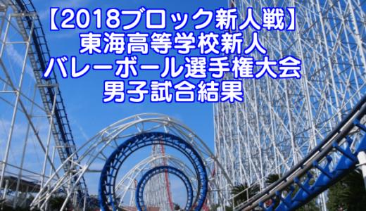 【2018ブロック新人戦】東海高等学校新人バレーボール選手権大会 男子試合結果