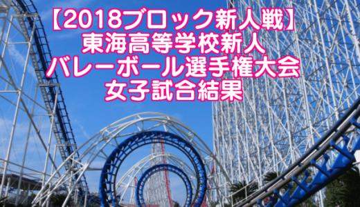【2018ブロック新人戦】東海高等学校新人バレーボール選手権大会 女子試合結果