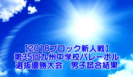 【2018  京王観光カップ】第35回九州中学校バレーボル選抜優勝大会 男子試合結果