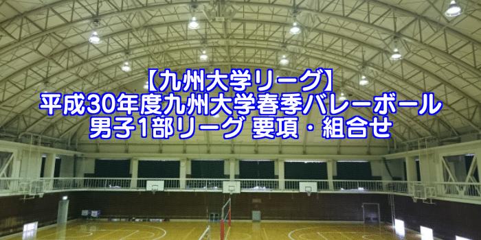 【九州大学リーグ】平成30年度九州大学春季バレーボール男子1部リーグ 要項・組合せ