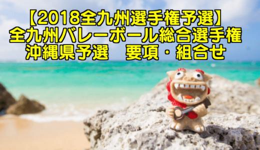【2018全九州選手権予選】全九州バレーボール総合選手権 沖縄県予選 要項・組合せ