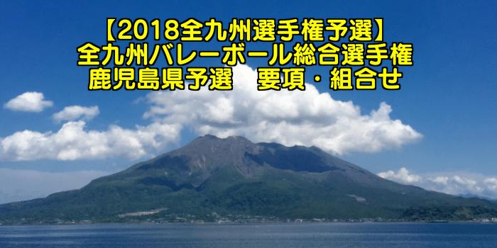【2018全九州選手権予選】全九州バレーボール総合選手権 鹿児島県予選 要項・組合せ
