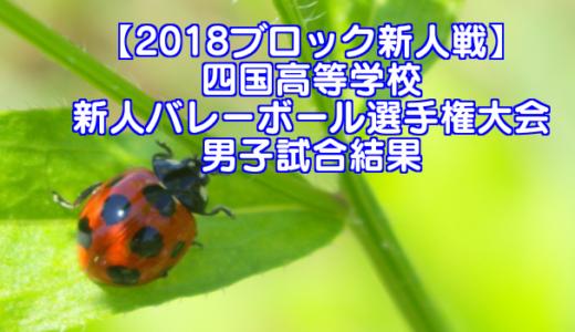 【2018ブロック新人戦】四国高等学校新人バレーボール選手権大会 男子試合結果