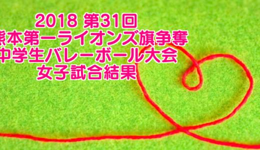 2018 第31回 熊本第一ライオンズ旗争奪中学生バレーボール大会 女子試合結果